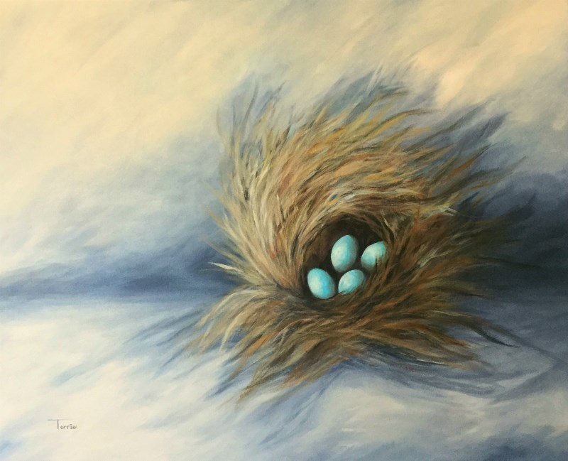 """April Nest"" original fine art by Torrie Smiley"