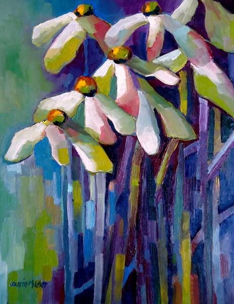 """Garden Party"" original fine art by Laurie Mueller"