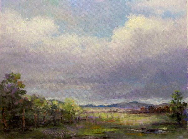 """After Another Rain"" original fine art by Dianne Mize"