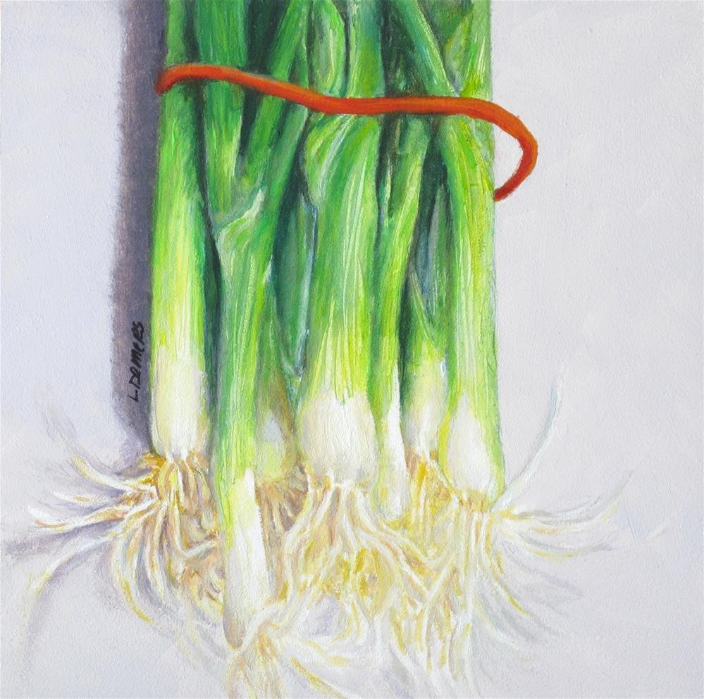 """Scallions"" original fine art by Linda Demers"