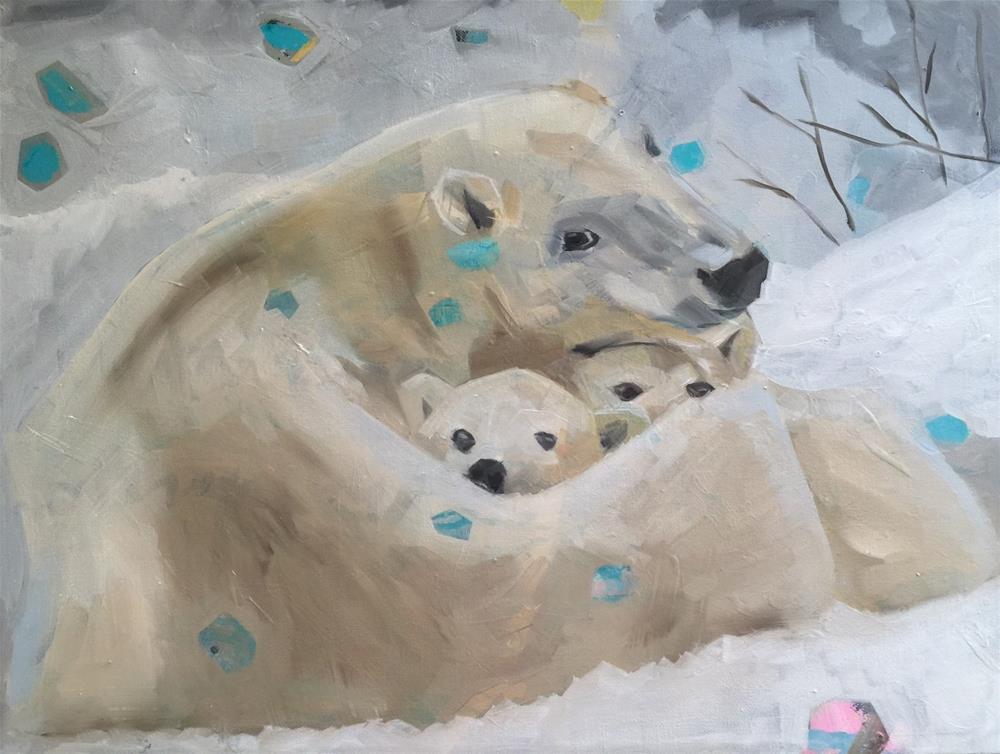 """""""329 Mother Bear"""" original fine art by Jenny Doh"""