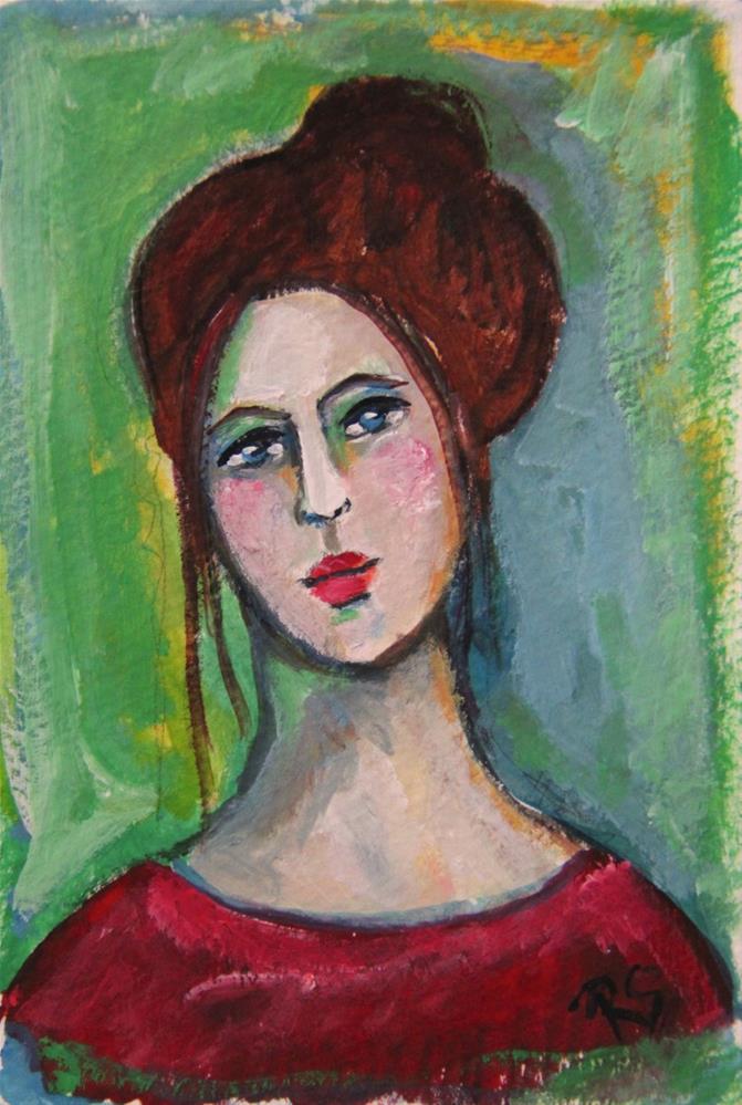 """""""Chloe"""" original fine art by Roberta Schmidt ArtcyLucy"""