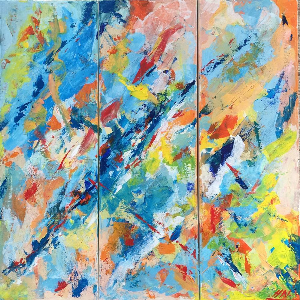 """""""Colour of Joy"""" original fine art by Hoda Nicholas"""