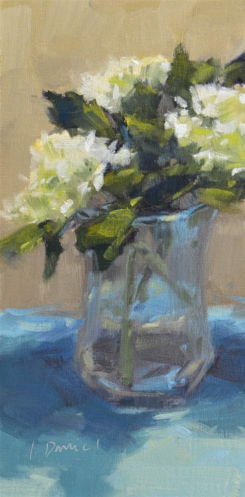 """""""Hydrangea Bouquet - Sixteen of 30 in 30"""" original fine art by Laurel Daniel"""