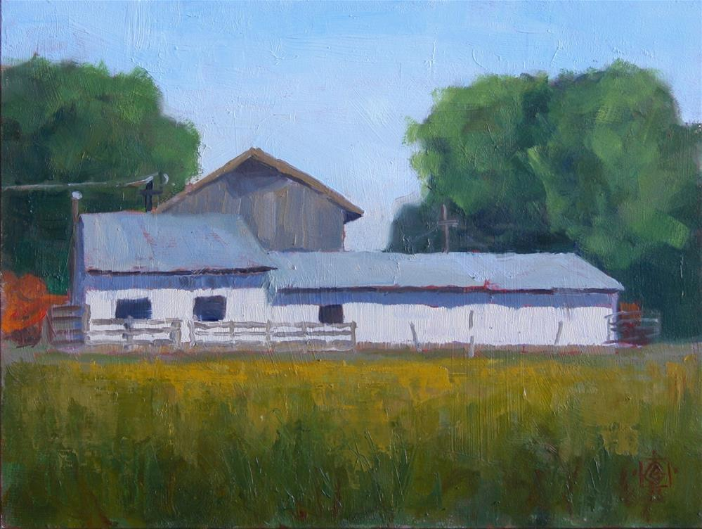 """Besendorfer Ranch"" original fine art by Carol Granger"