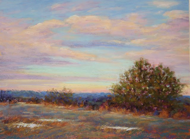 """Close of a Winter's Day"" original fine art by Sharon Lewis"