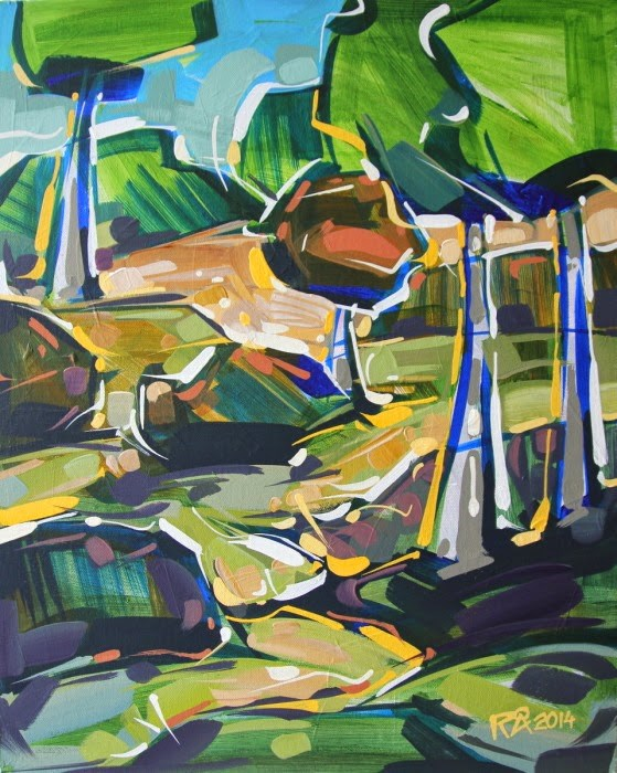 """Landscape Exploration 10"" original fine art by Roger Akesson"