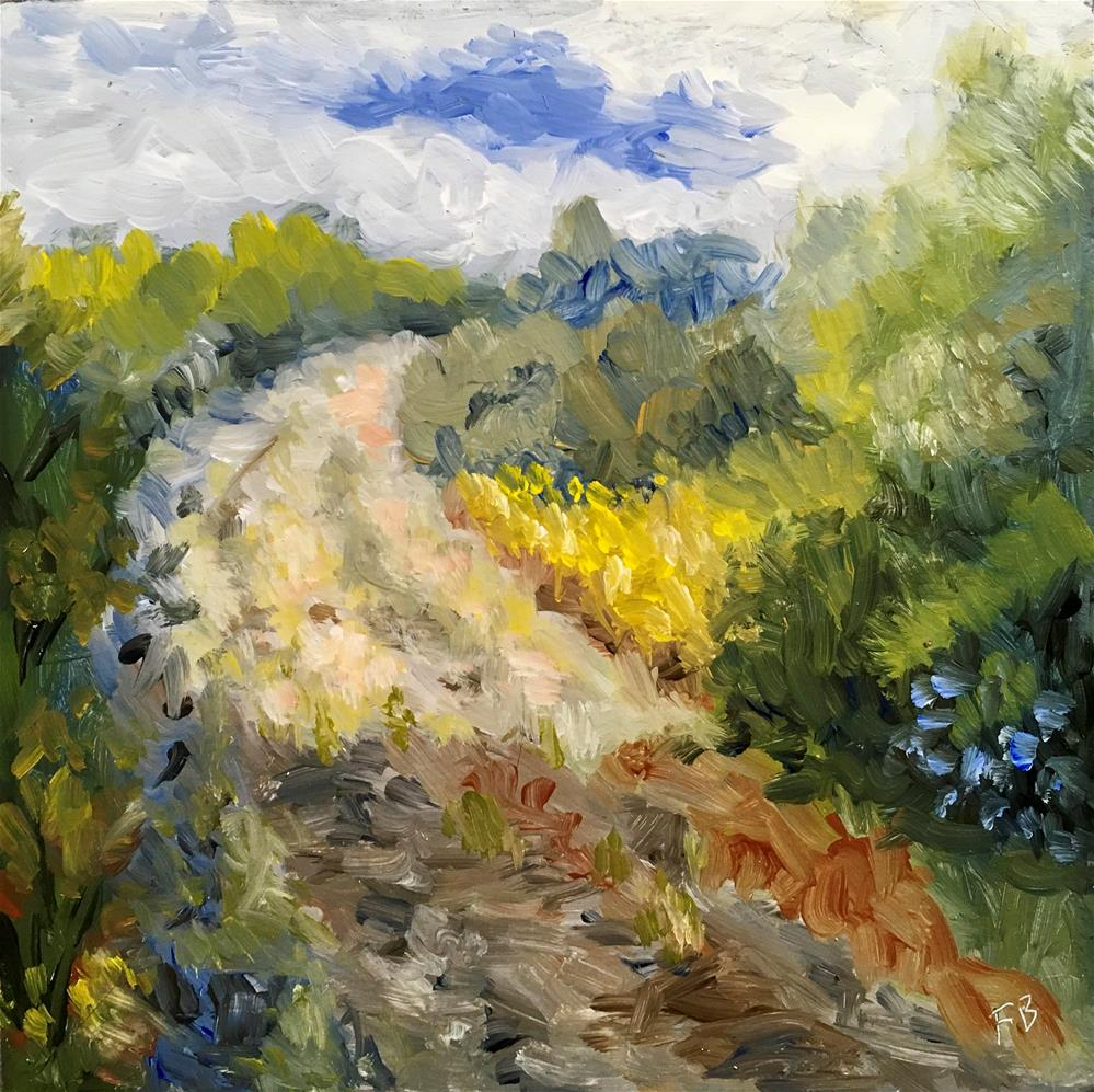 """""""132 The Road Home"""" original fine art by Fred Bell"""