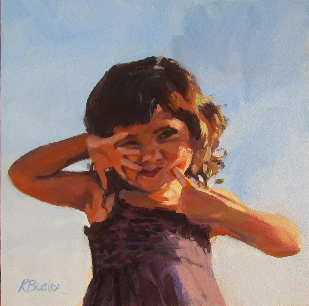 """Alexandria: Little Kauai Princess"" original fine art by Kaethe Bealer"