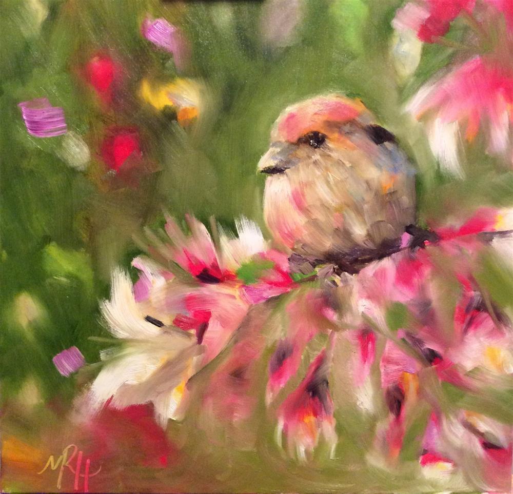 """Framed Bird #5"" original fine art by Molly Rohrscheib Hathaway"
