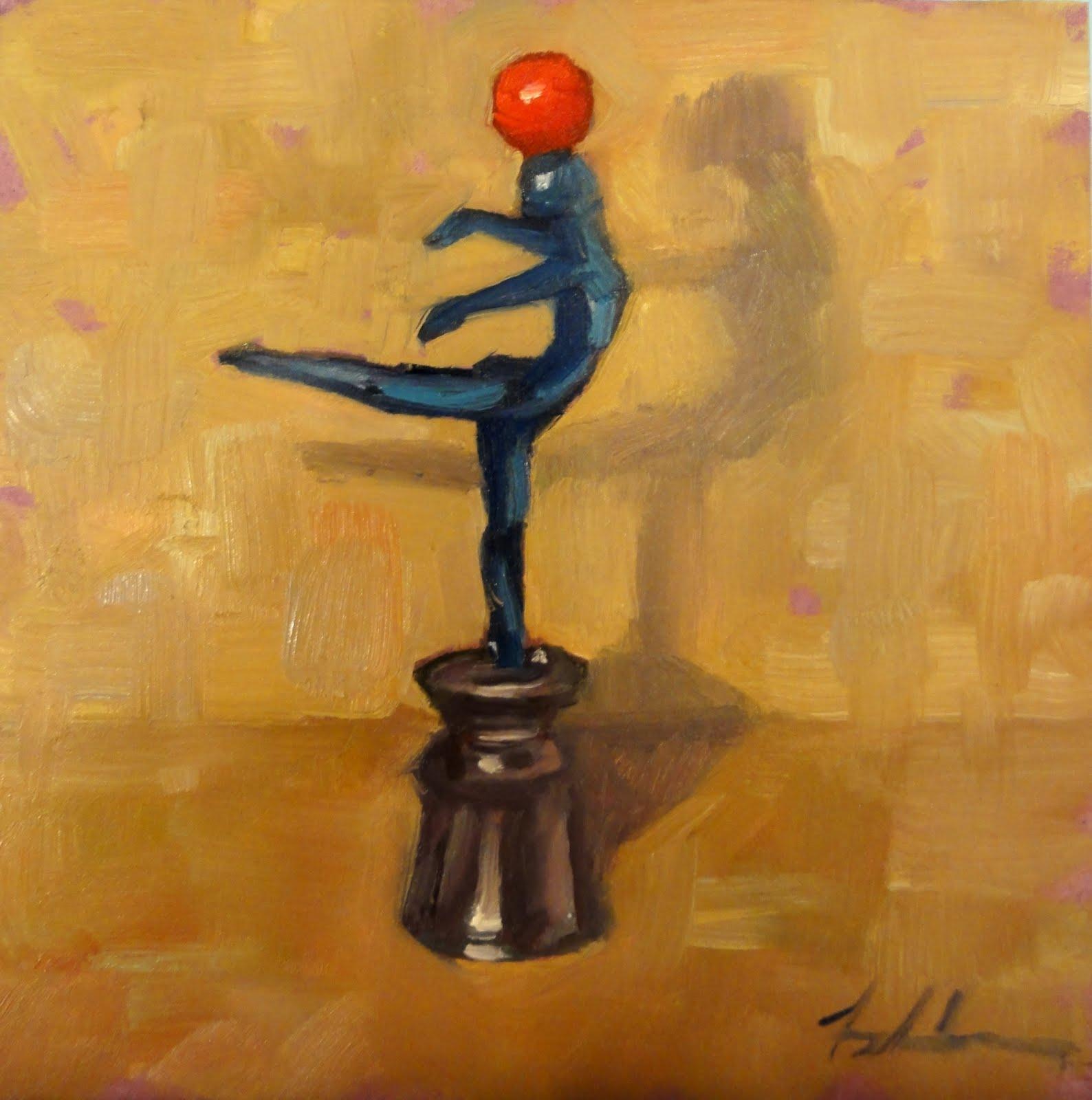 """""""The Balancing Act"""" original fine art by Ann Feldman"""