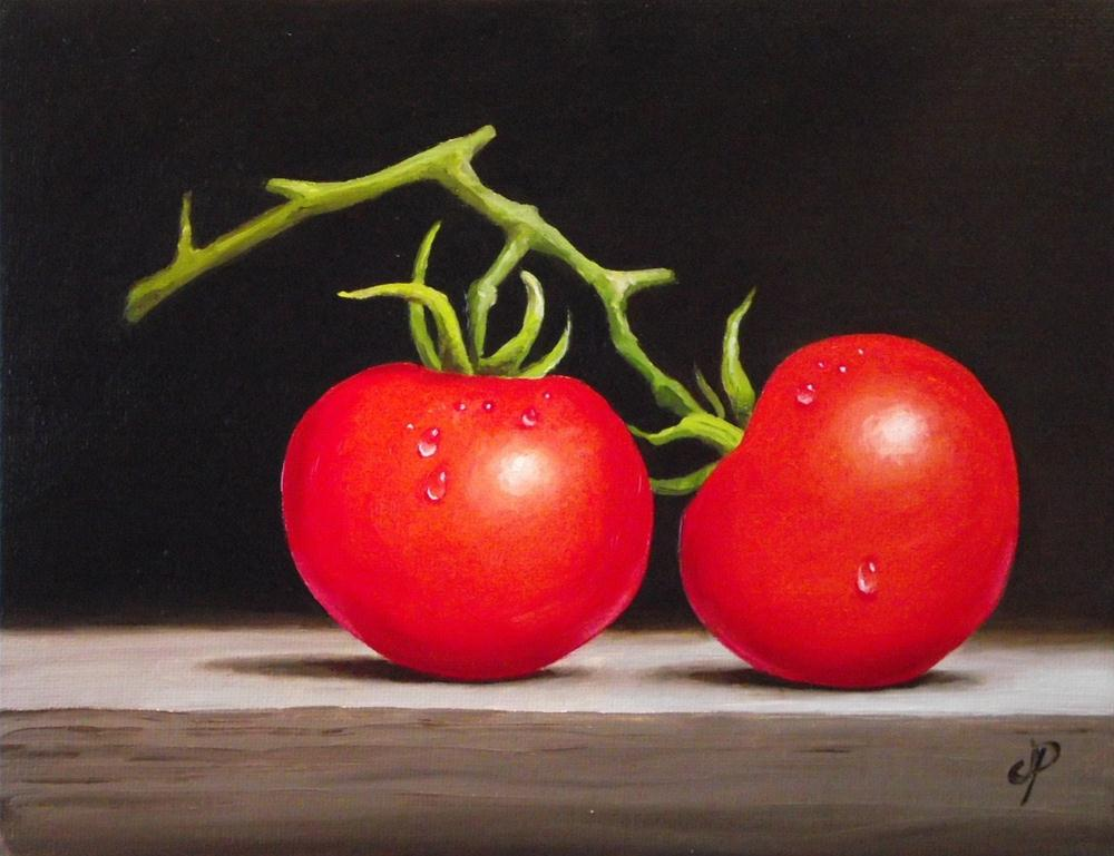 """Tomato pair"" original fine art by Jane Palmer"
