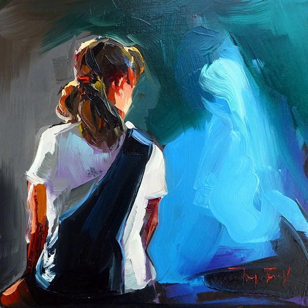 """Sitzende"" original fine art by Jurij Frey"