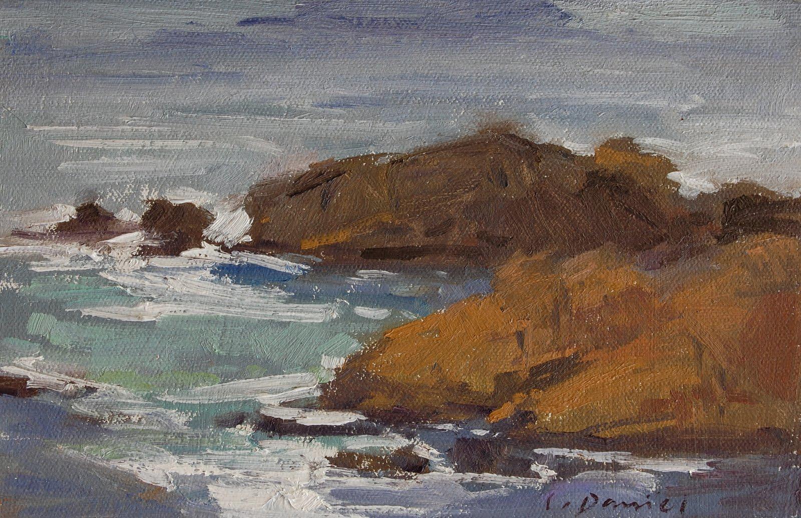"""""""Point Lobos - Six Quick Studies"""" original fine art by Laurel Daniel"""
