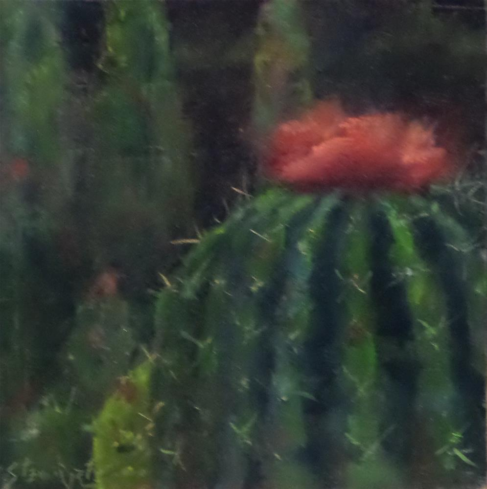 """A BLOOMIN' PINCUSHION"" original fine art by Kris Stewart"