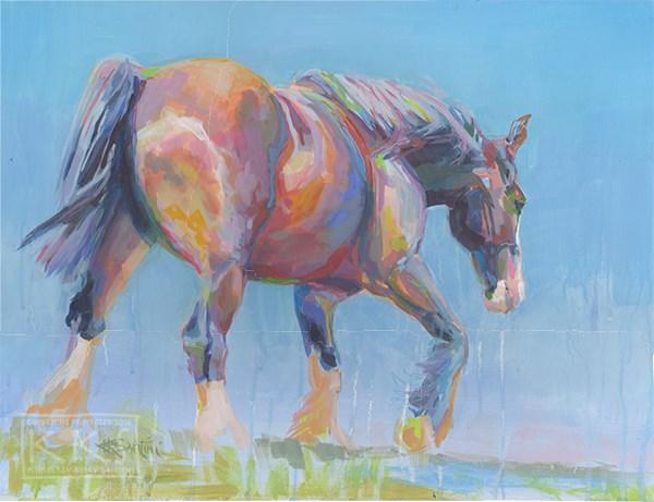 """Present"" original fine art by Kimberly Santini"