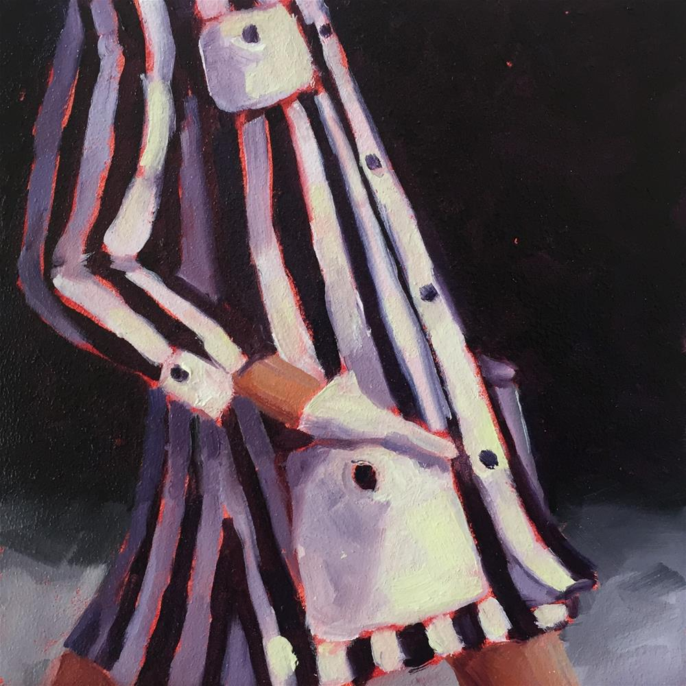 """Black and White Stripes 2"" original fine art by Lisa Sotero"