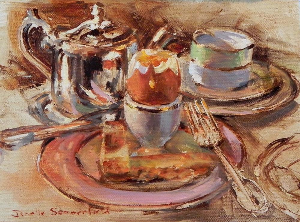 """""""Soft Boiled Egg"""" original fine art by Jonelle Summerfield"""