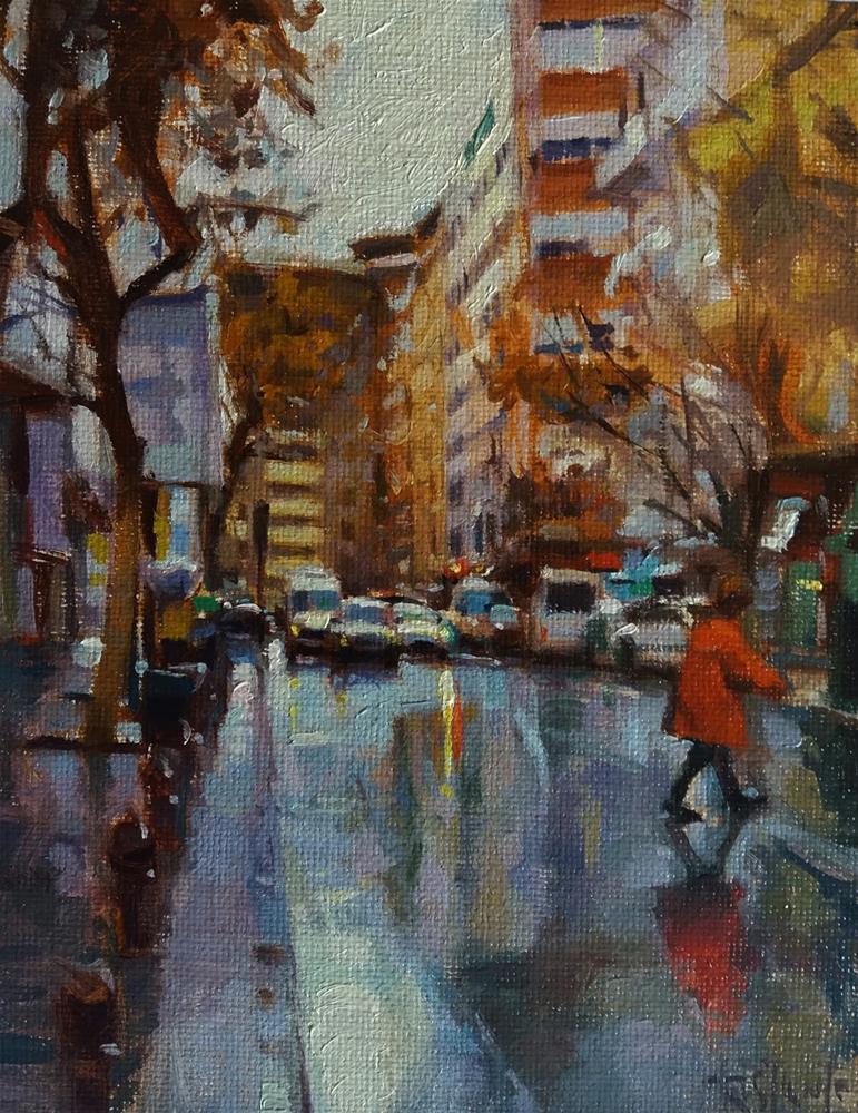 """Calle Alhamar"" original fine art by Víctor Tristante"