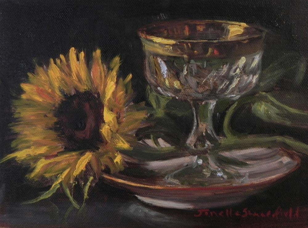 """Gold and Yellow"" original fine art by Jonelle Summerfield"