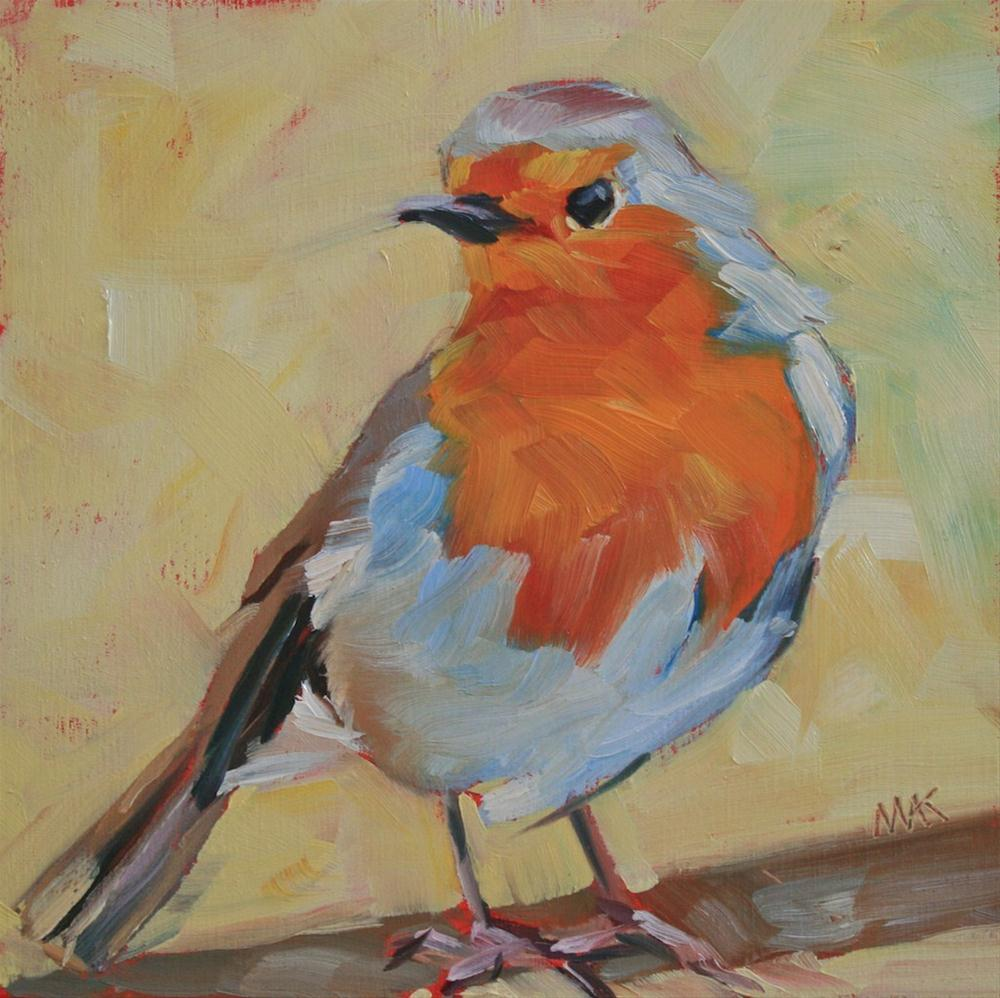 """""""Little Robin"""" original fine art by Mary Anne Cary"""