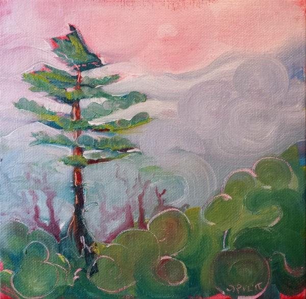 """Valley Fog 3 landscape oil painting"" original fine art by Pam Van Londen"