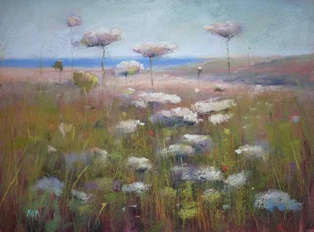 """""""A Simple Tip for Painting White Flowers"""" original fine art by Karen Margulis"""
