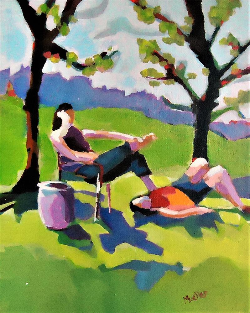 """The Picnic"" original fine art by Laurie Mueller"