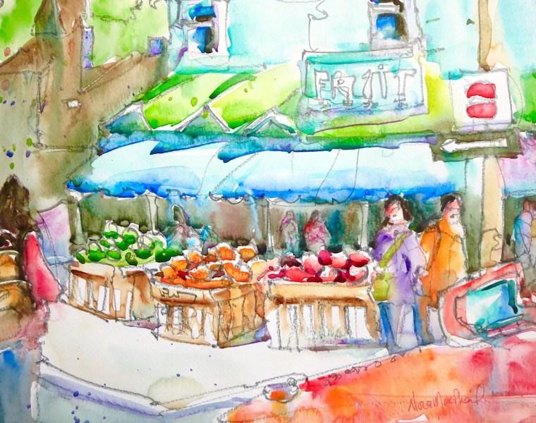 """""""Market Day"""" original fine art by Nora MacPhail"""