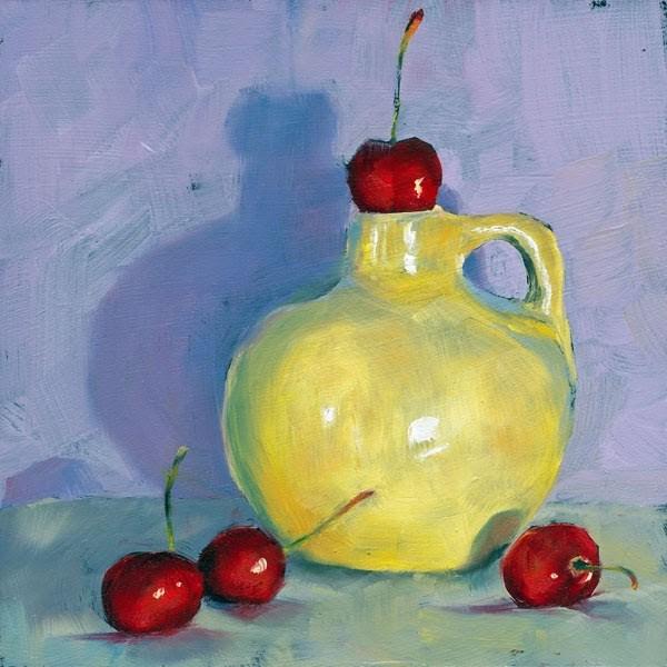 """""""Cherry Stopper"""" original fine art by Brenda Ferguson"""