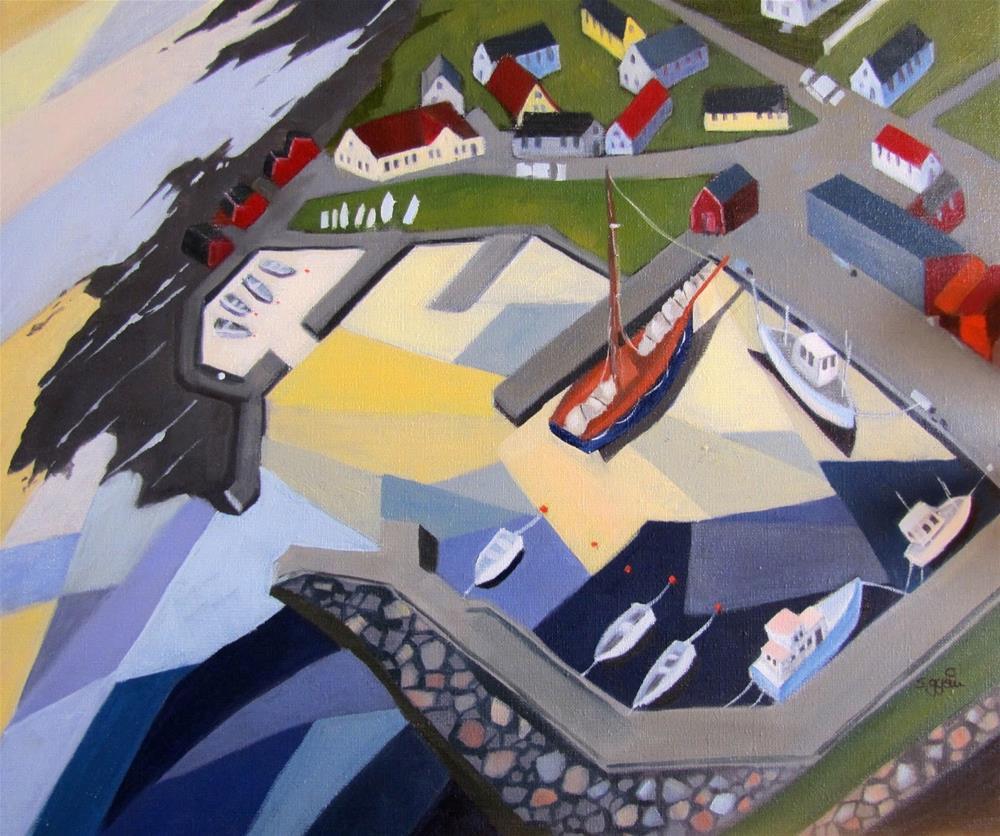"""""""Där vi köpar fisk"""" original fine art by Suzanne Gysin"""