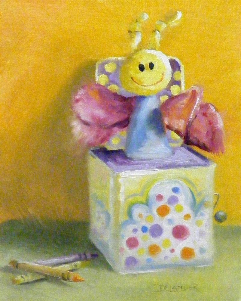 """Polka Dot Pop Up"" original fine art by Diana Delander"