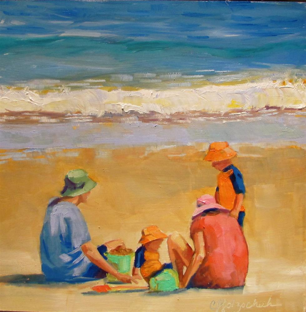 """""""At the beach"""" original fine art by Christine Holzschuh"""