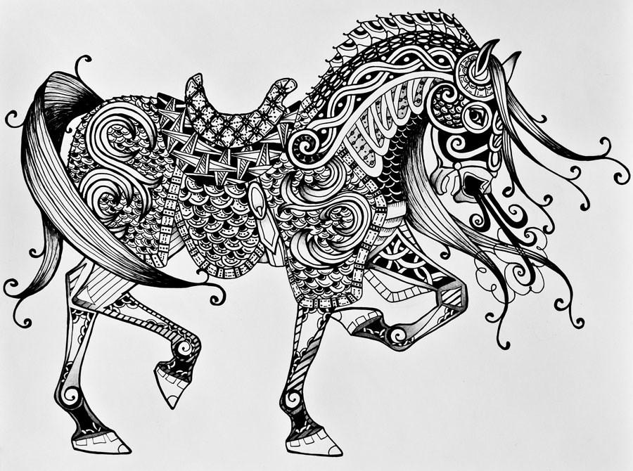 """War Horse"" original fine art by Jani Freimann"