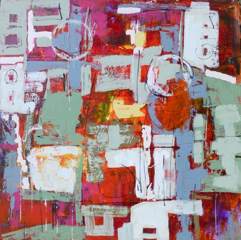 """Between Trains 15007"" original fine art by Nancy Standlee"