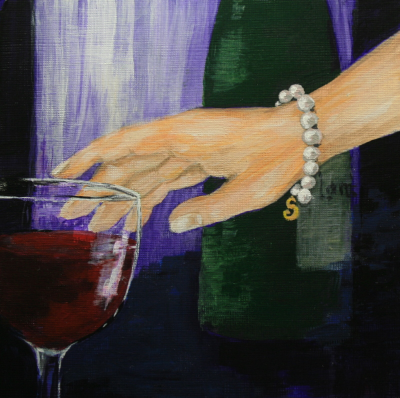 """""""I'll Drink to That"""" original fine art by Jean Nelson"""