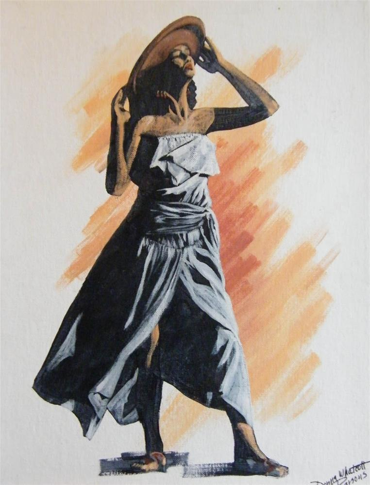 """Sundress"" original fine art by Donna Whatcott Parsons"