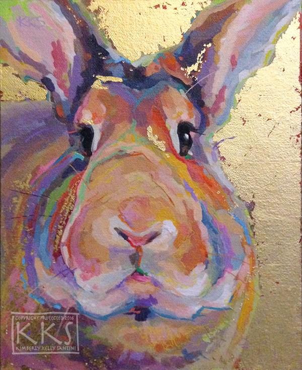 """24K Bun"" original fine art by Kimberly Santini"
