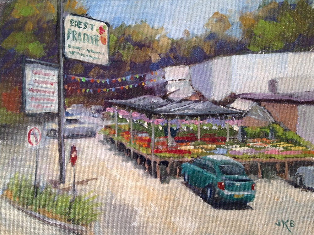 """West End Best Produce"" original fine art by Jeanne Bruneau"