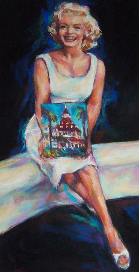"""""""MARILYN + THE DEL - pastel by Susan Roden"""" original fine art by Susan Roden"""