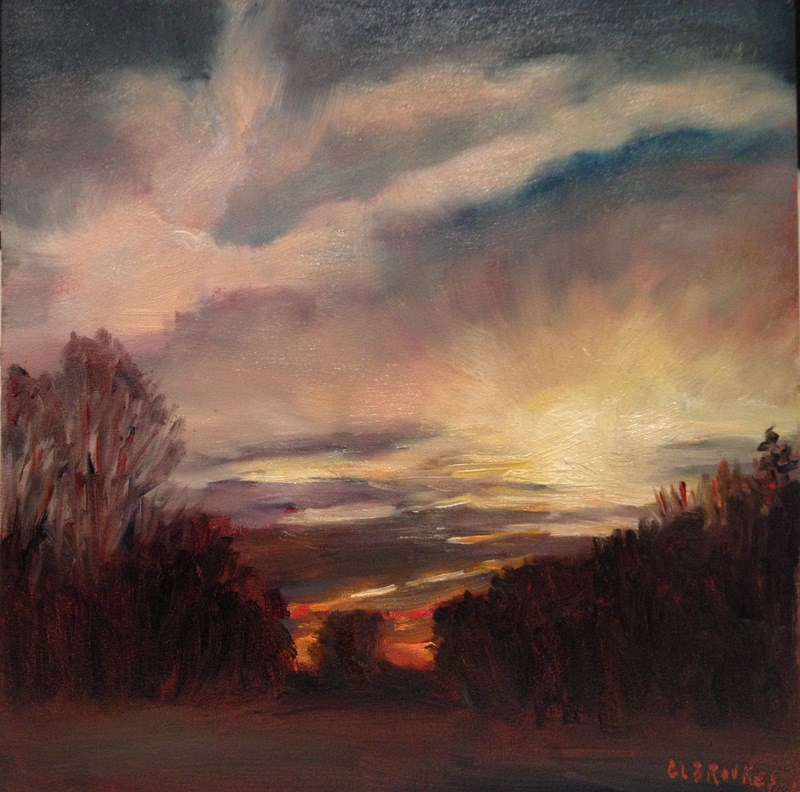 """Winter Sky, Day 88"" original fine art by Claudia L Brookes"