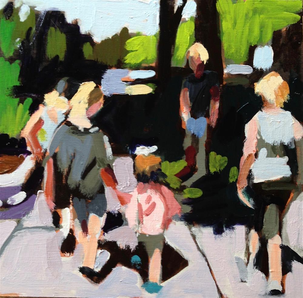 """Taking Lily To Ice Cream"" original fine art by Pamela Hoffmeister"