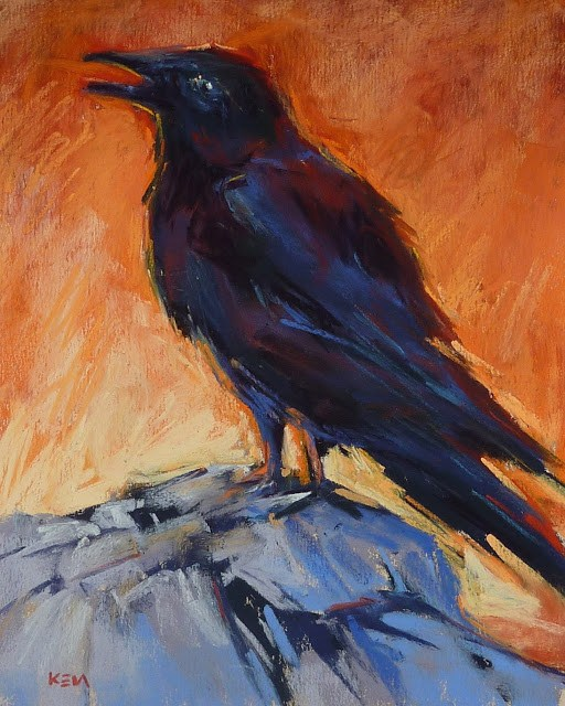"""Raven"" original fine art by Karen Margulis"