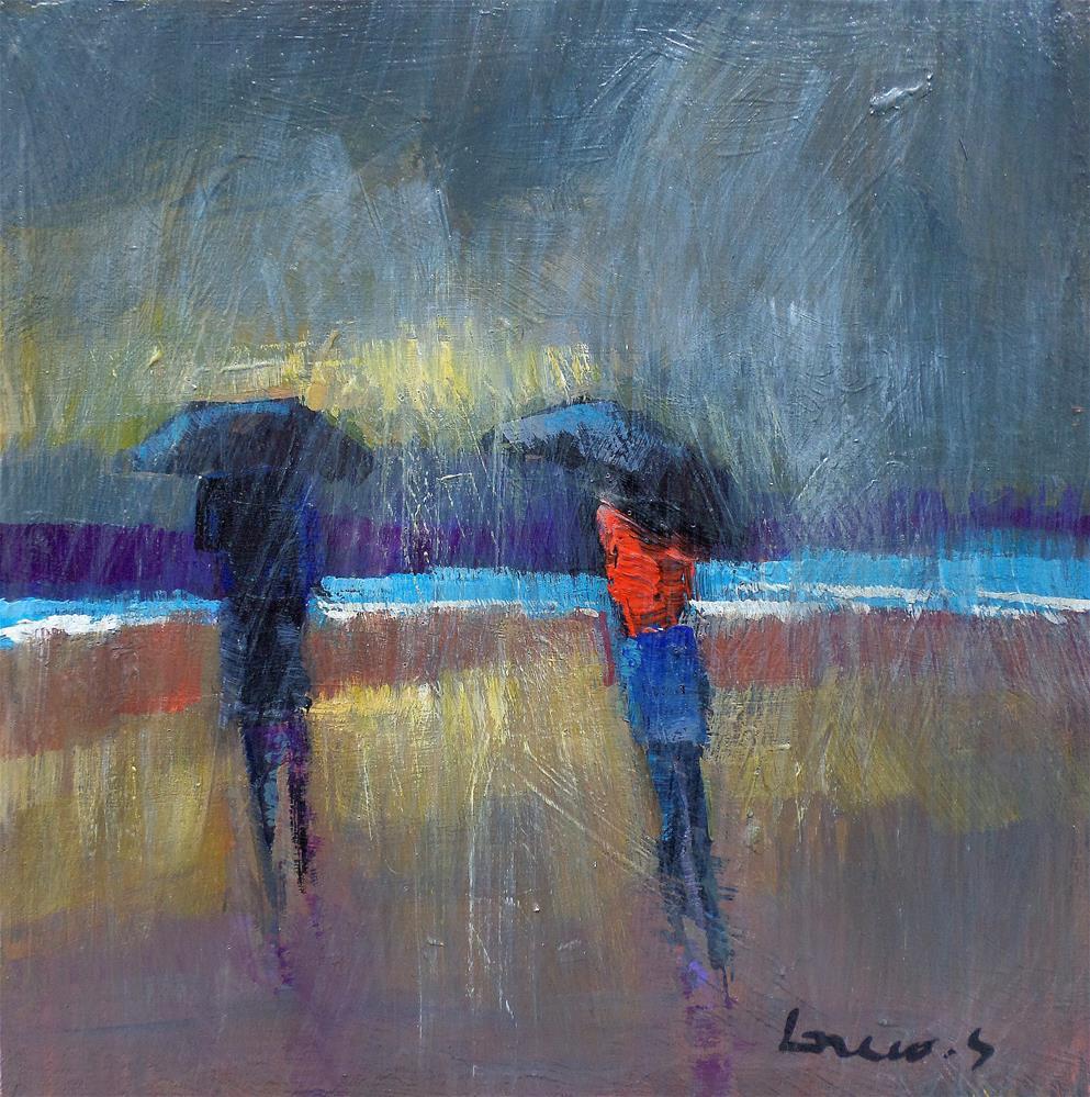 """Storm on the beach"" original fine art by salvatore greco"