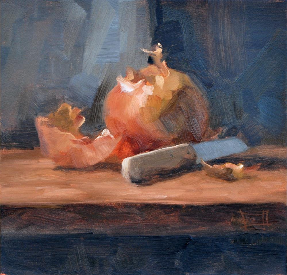 """Onion"" original fine art by Johan Derycke"