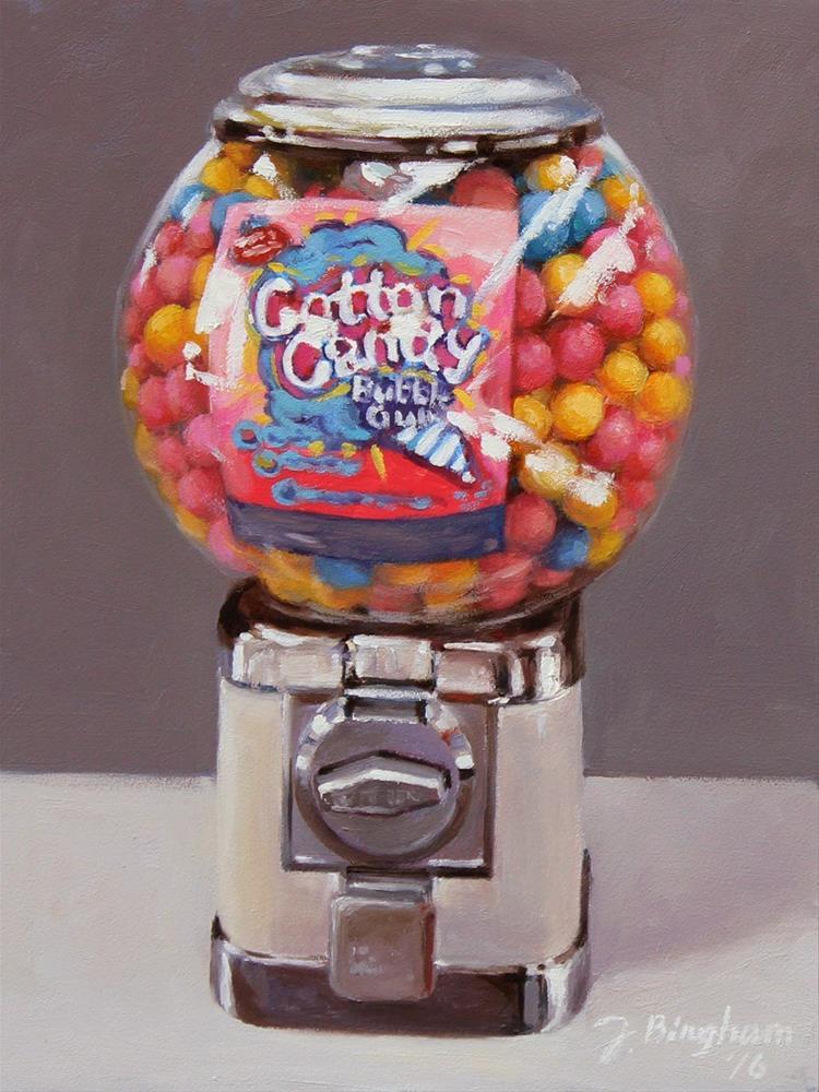 """Bubble Gum Machine"" original fine art by Joanna Bingham"