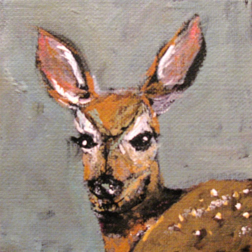 """Fawn"" original fine art by Susan Elizabeth Jones"