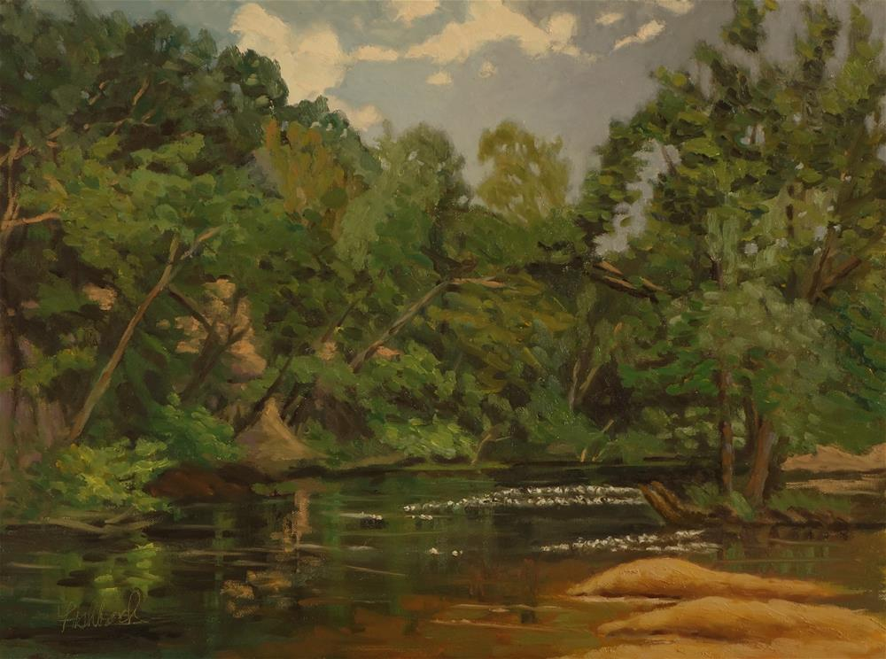 """""""Great Day on the River"""" original fine art by Daniel Fishback"""