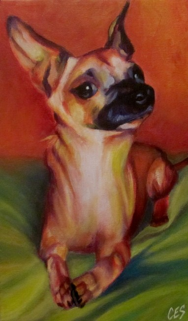 """Custom Abstract Pet Portrait: Slick"" original fine art by ~ces~ Christine E. S. Code"