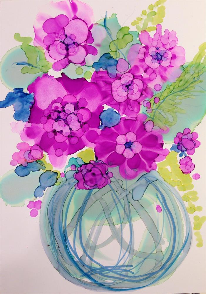 """""""Radiant Orchid: They're Not Orchids at All, but  Rather Petunias"""" original fine art by Kelly Alge"""